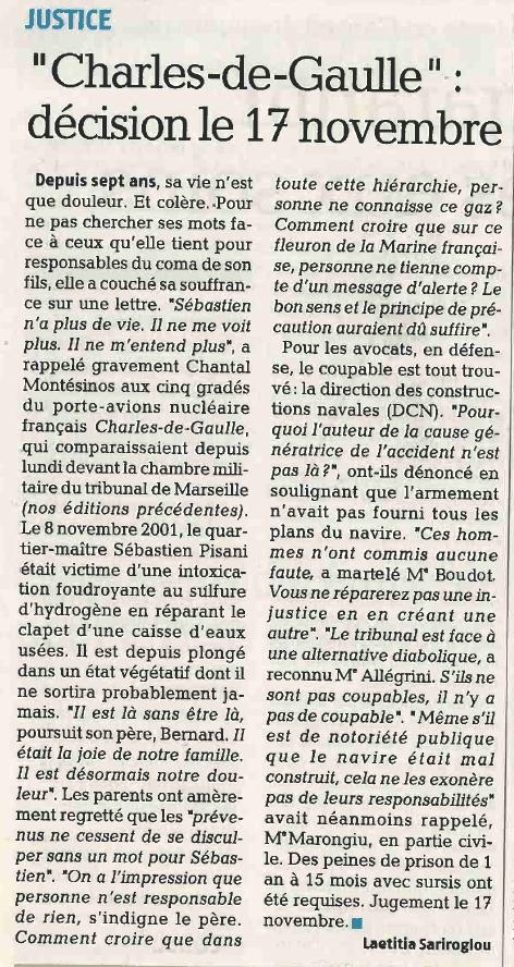 Affaire du porte avions charles de gaulle article la provence - Porte avions charles de gaulle journal de bord ...