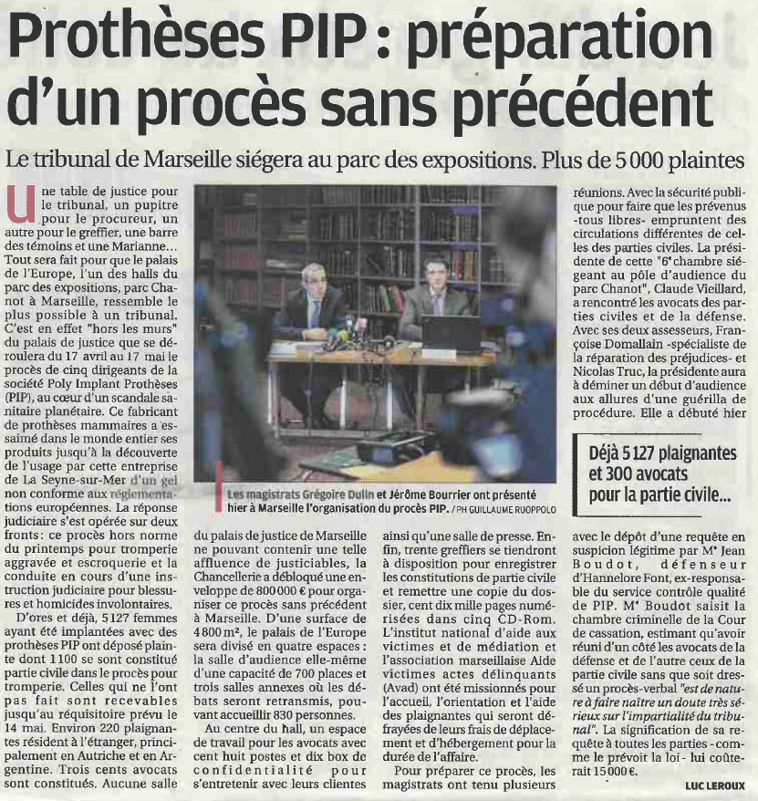 Affaire proth ses pip incidents de proc dure - Tribunal d instance de salon de provence ...