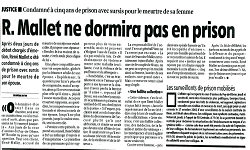 Affaire Mallet, article La Montagne