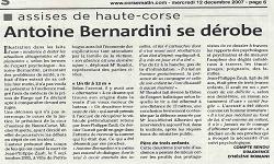 Affaire ZAULI, article Corse Matin