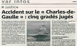 Affaire Charles de Gaulle, article Var Matin