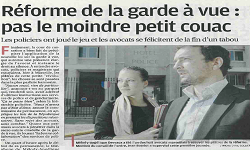 Réforme de la Garde à vue, article La Provence