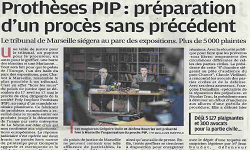 Affaire dite des prothèses PIP, article La Provence