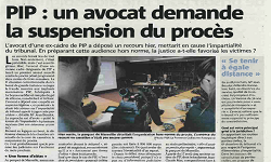 Affaire PIP incident de procédure, article VAR Matin