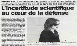 Affaire dite des prothèses PIP, article La Marseillaise