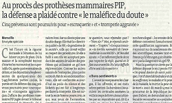 Affaire PIP, article Le Monde et Blog Le Monde P. Robert-Diard