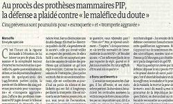 Affaire PIP, article Le Monde et Blog Le Monde P. Robert-Diard