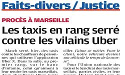Affaire UBER, La Provence et AFP